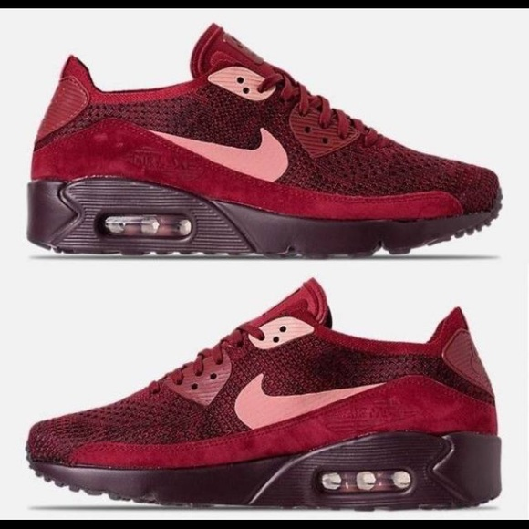 best sneakers b0d9e a7e35 🆕NEW Nike Air Max 90 Ultra 2.0 Flyknit Burgundy